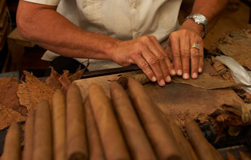 Cuban CIgars Being Made