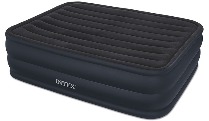 intended for home use this inflatable airbed uses indented sides to keep fitted sheets from slipping away from the mattress