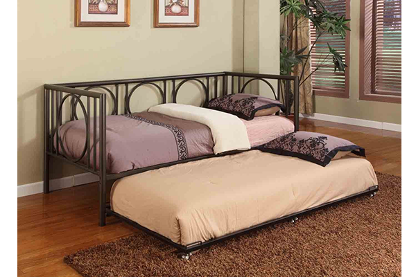 10texture Black Metal Twin Size Day Bed