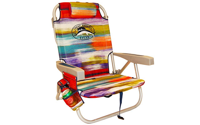 1tommy Bahama Backpack Cooler Chair With Storage Pouch And Towel Bar