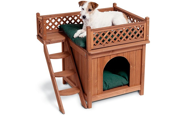 Perfect Like the name suggests this is far more than just a simple dog bed The Wood Pet Home is an entire assembly that includes not only the dog bed but a