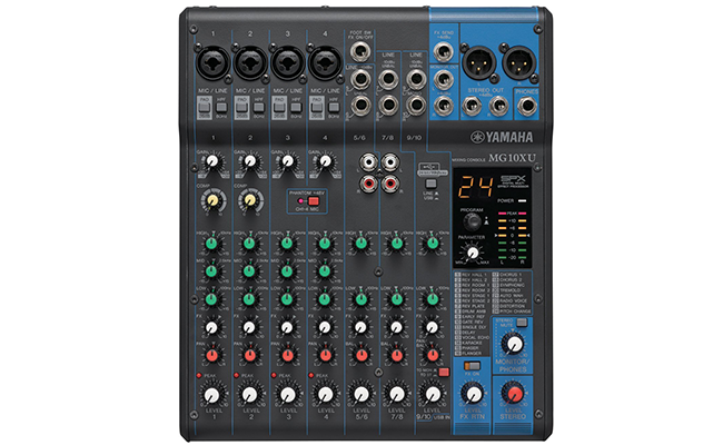 Top 10 best audio mixers of 2017 reviews pei magazine for Yamaha mg10xu review