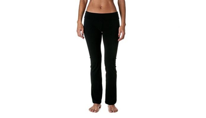 9e93c58dd0 7Hollywood Star Fashion Women's Slimming Fold Over Bootleg Flare Yoga Pants