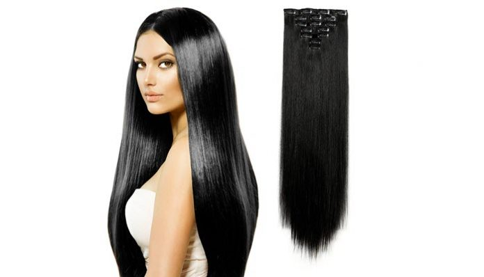 Top 10 best hair extensions of 2017 reviews pei magazine 9onedor 24 inch straight long beautiful black wig hair pmusecretfo Image collections